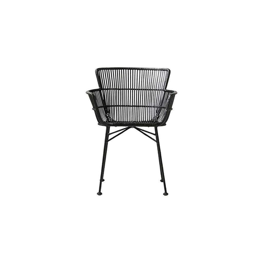 Black Rattan Dining Chair