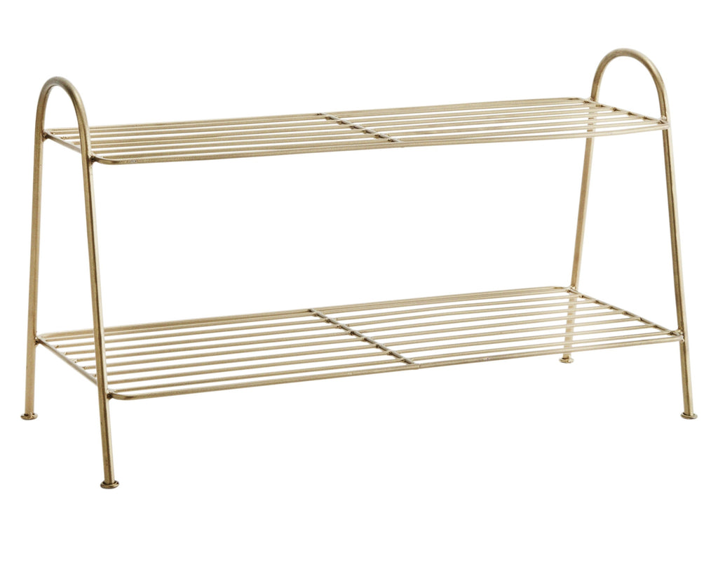 Brass Shoe Rack