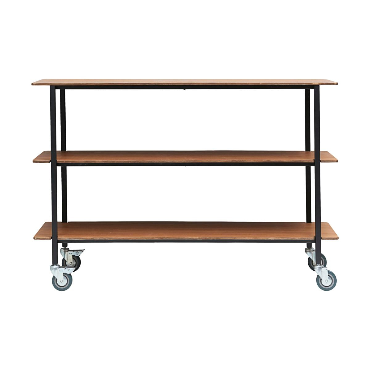 Trolley with Wooden Shelves