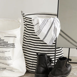 Striped Laundry Bag