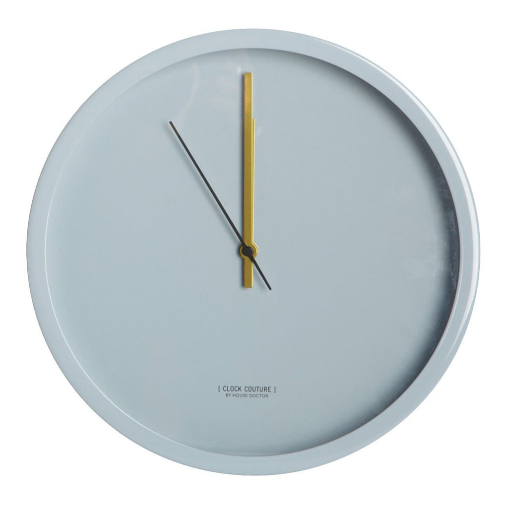Couture Grey Wall Clock