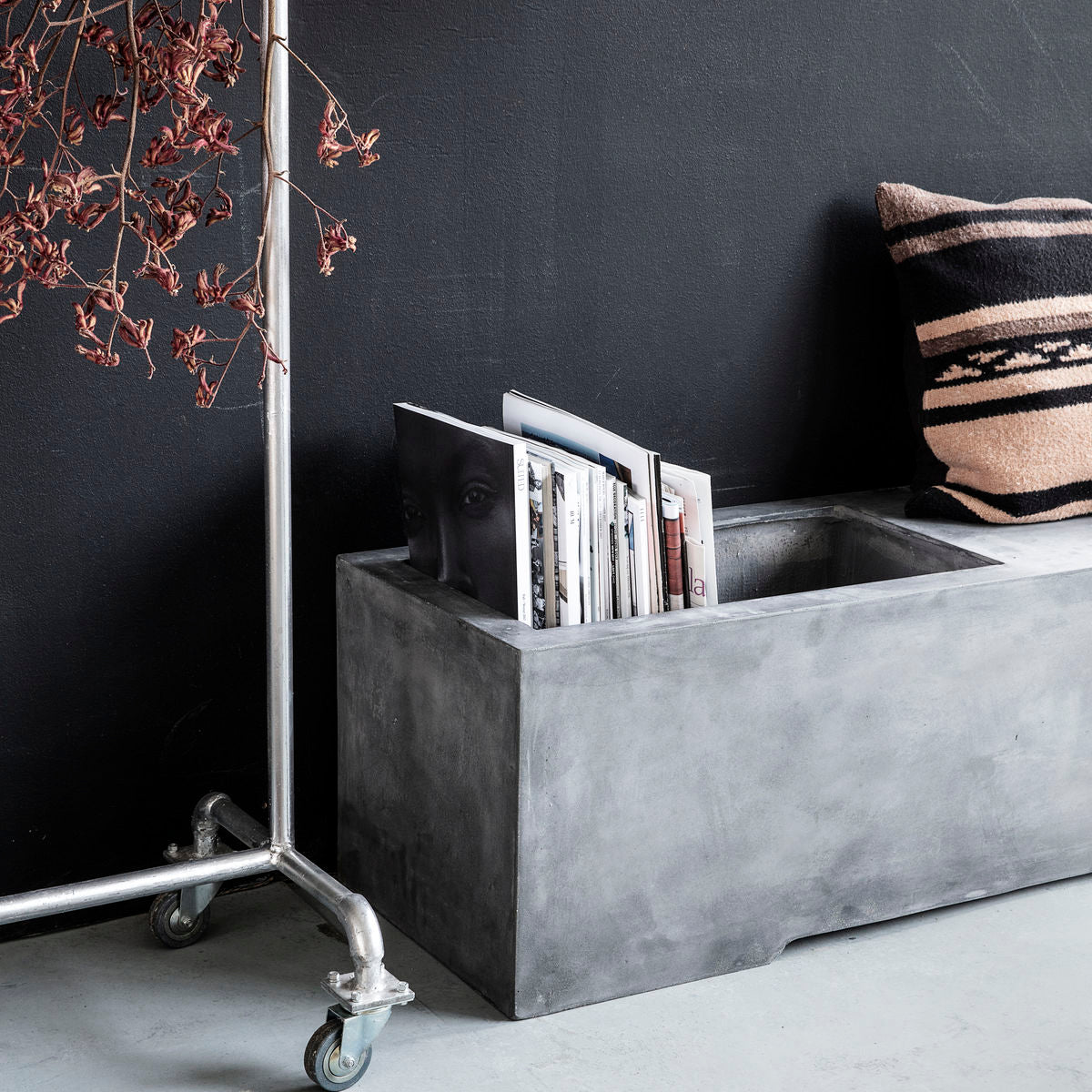 Concrete Bench with Storage