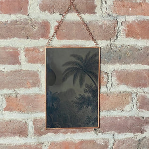Copper Framed Mirror on Chain