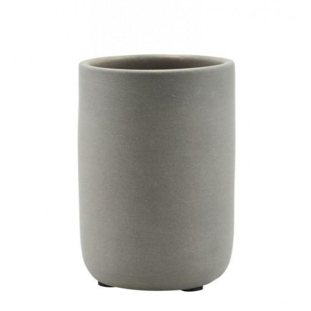 Matte Grey Storage Pot