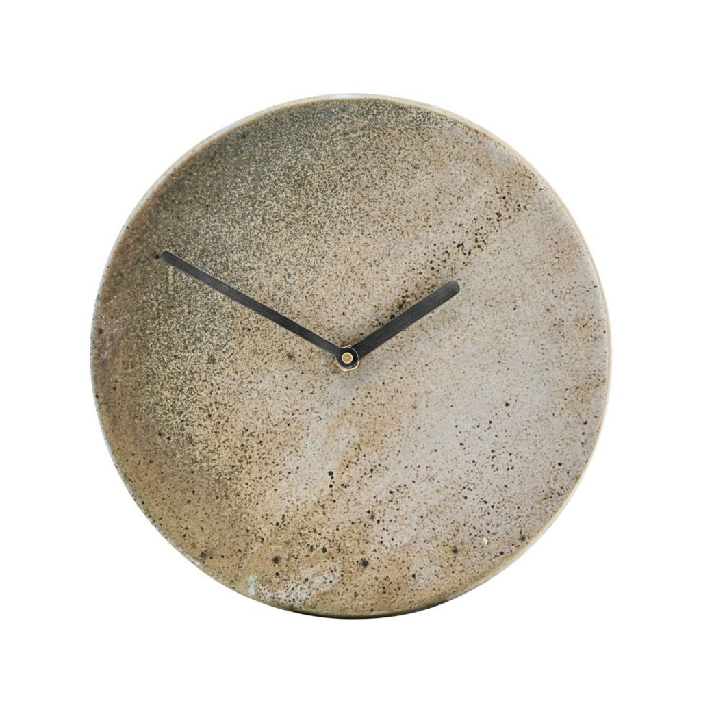 Brown Stone Wall Clock