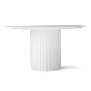 Pillar Dining Table in White