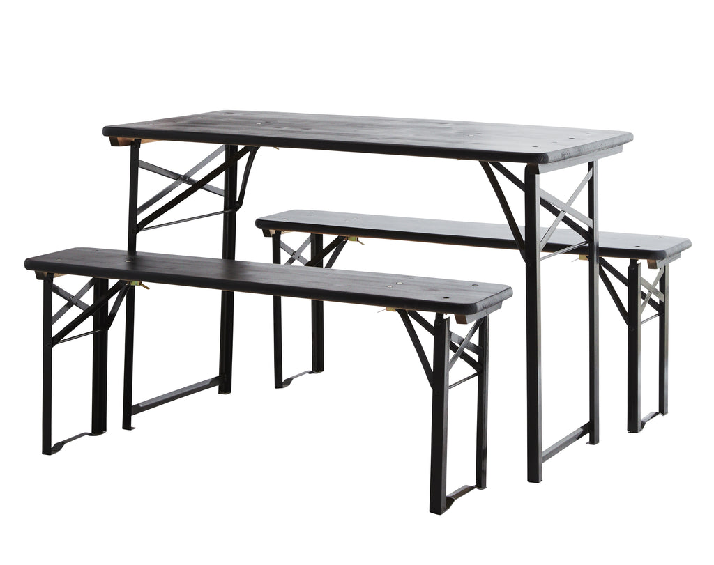 Folding Table and Bench Set