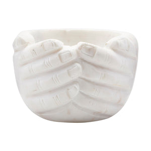 White Marble Hands Bowl