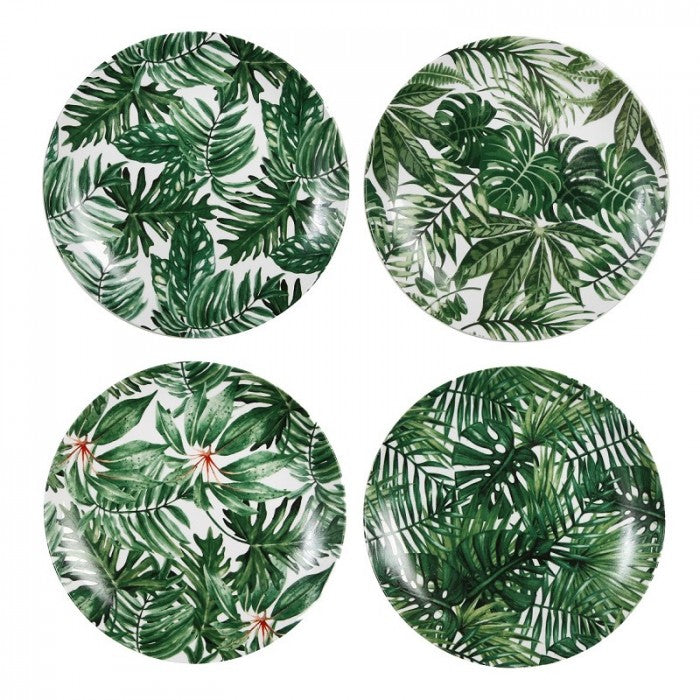 Leaf Design Porcelain Plates
