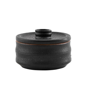 Black Pot with Lid