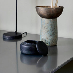Black Trinket Pot with Lid