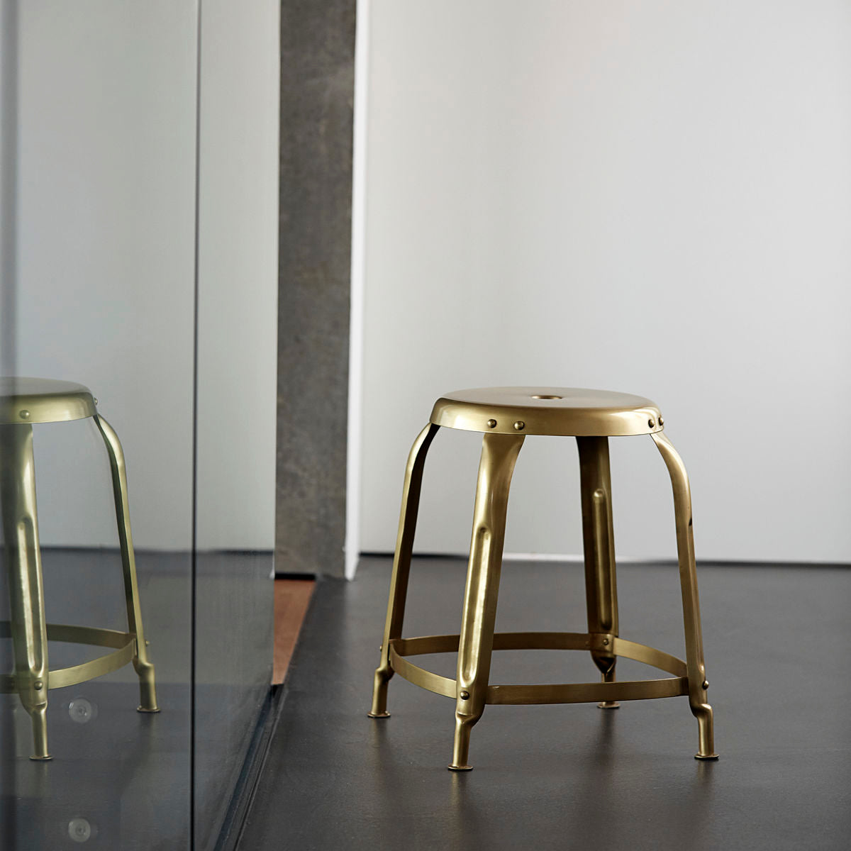 Gold Steel Stool