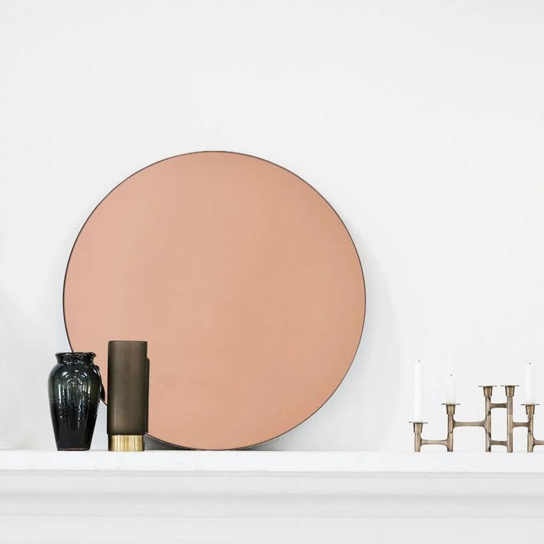 Rose Gold Round Wall Mirror