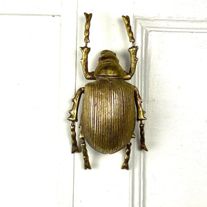 Gold Scarab Beetle Wall Decor