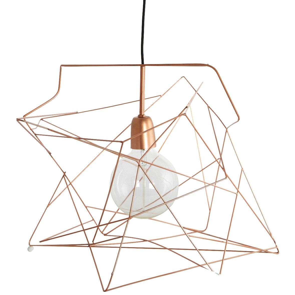 Asymmetric Copper Ceiling Light Shade by House Doctor