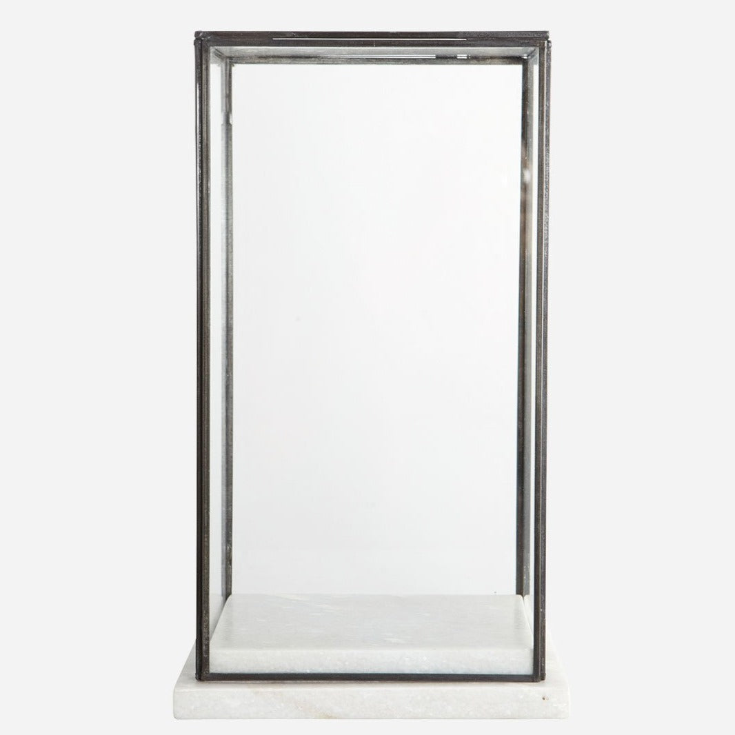 Marble and Glass Showcase