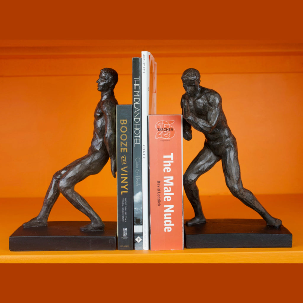 Bronze Strongmen Bookends