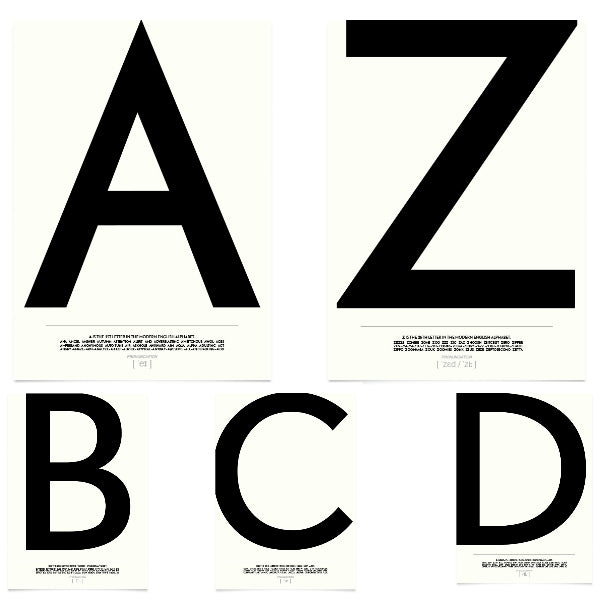 Typography Alphabet Prints