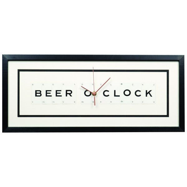 Beer O'Clock Framed Wall Clock