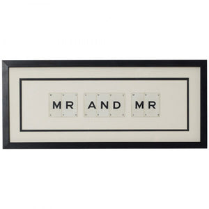Mr and Mr Framed Artwork