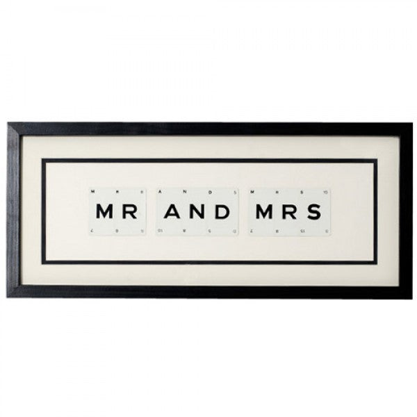 Mr and Mrs Framed Artwork