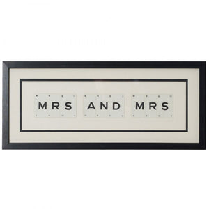 Mrs and Mrs Framed Artwork