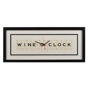 Wine O'Clock Framed Wall Clock