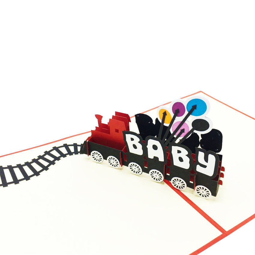 Baby Train Pop Up Card