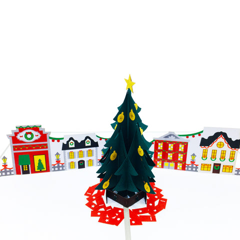 Christmas Town Pop Up Card