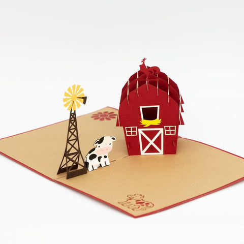 Farm House Popup Card