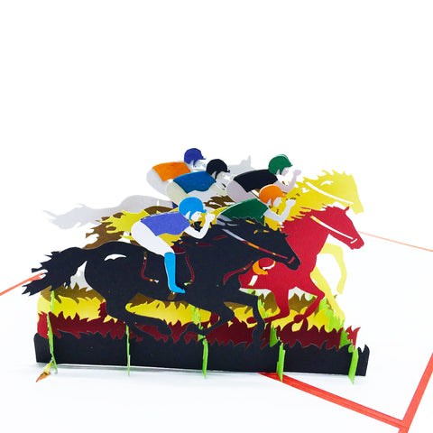 Racing Horse Pop Up Card