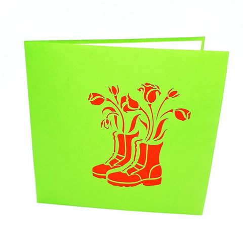 Flower Shoes Pop Up Card