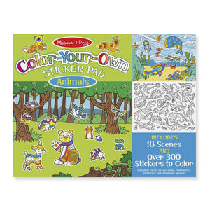 Color Your Own Sticker Pad - Animals