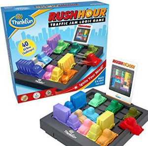 ThinkFun Rush Hour Traffic Jam Logic Game and STEM Toy for Boys and Girls Age 8 and Up – Tons of Fun With Over 20 Awards Won, International Bestseller for Over 20 Years