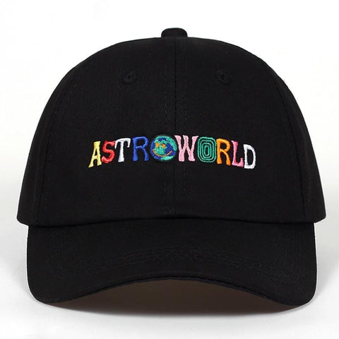 100% Cotton ASTROWORLD Baseball Caps Travis Scott Unisex Astroworld Dad Hat Cap High Quality Embroidery Man Women Summer Hat - MH