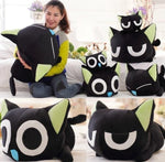 1Pcs New Arrival 30cm Super Cute Plush Toy Luo Black Cat Stuffed Doll kitty Papa Pillow birthday Gifts for Children - MH