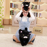 1pc 30/50cm Mysterious Black Cat Plush Toys Stuffed Soft Cartoon Animal Pillow Simulation Doll Cute Birthday Gift for Children - MH