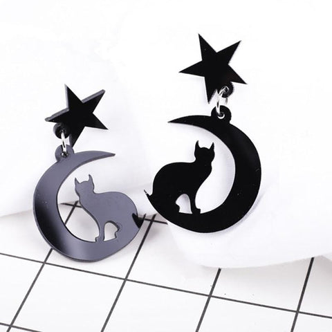 Sailor Moon Cat Star Earrings - MH
