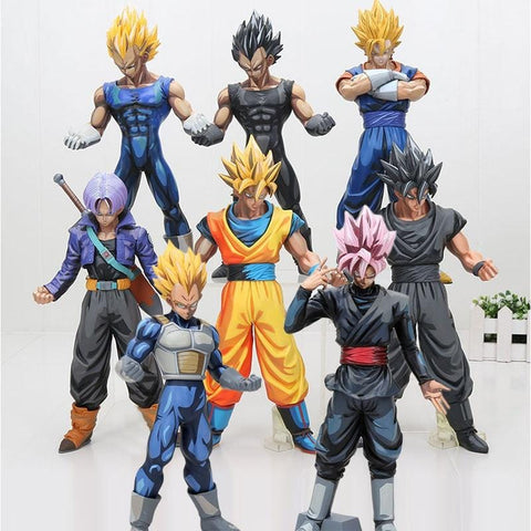 2MB 26cm Dragon ball Z Figure MSP Master Stars Piece Vegeta Trunks vegetto Son Goku black chocolate goku PVC Action Figure Toy - MH