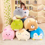 30/60cm Soft Animal Cartoon Pillow Cushion Cute Fat Dog Cat Totoro Penguin Pig Frog Plush Toy Stuffed Lovely kids Birthyday Gift - MH