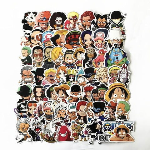 1MB 61 Pcs/Lot Anime 2019 ONE PIECE Luffy Stickers For Car Laptop PVC  Backpack Home Decal Pad Bicycle PS4  waterproof Decal - MH
