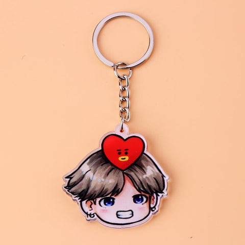1MB Acrylic Anime Cute Keychain Love Yourself Porte Clef Key Chain - MH