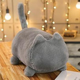 Adopt A Cat Shadow of Cats Lying Kitten Plush Animal Soft Stuffed Plushie Pets Colorful Pink Brown Black Green White Grey  S/L - MH