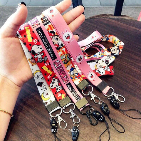 1MB Anime Cute Cartoon Neck Strap Lanyard for keys ID Card Gym Mobile Phone Straps USB badge holder DIY Hang Rope Lariat Lanyards - MH