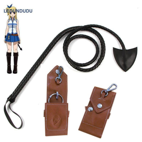 Fairy Tail Leather Whip & Key Holder - MH