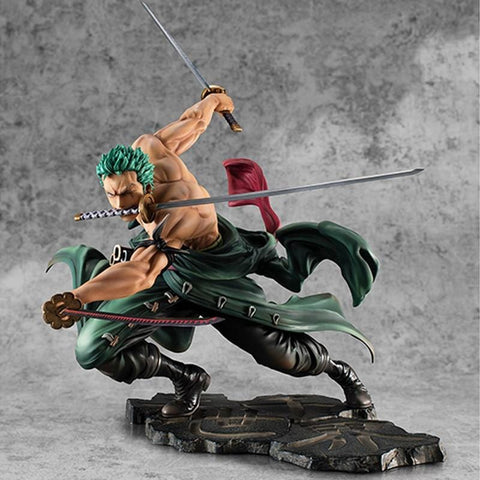 4MB Anime One Piece 18cm Roronoa Zoro PVC Action Figure - MH