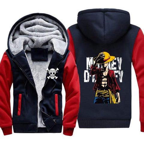 4MB Anime One Piece Monkey D Luffy Hoodie - MH