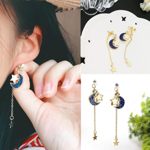 Sailor Moon Blue Star Moon Earrings - MH