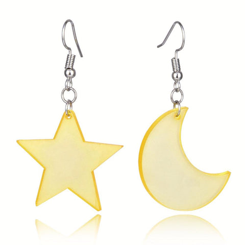 Sailor Moon Star and Moon Earrings - MH