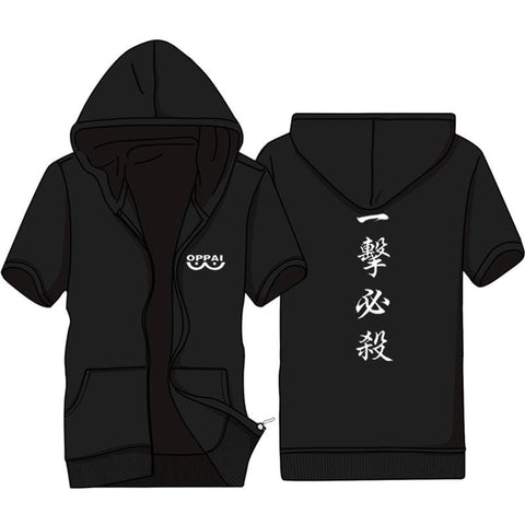 2MB Casual Funny Print Dragon Ball Goku Hoodie Men Black Gray Cosplay Sweatshirt Fashion Short Sleeve Zipper Mens Hoodies Jackets - MH